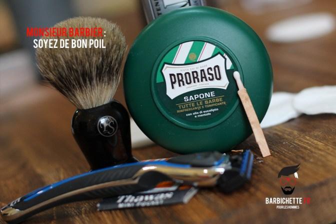 Monsieur Barbier - Le blaireau et le savon à barbe