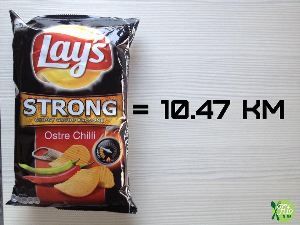 Calories paquet chips