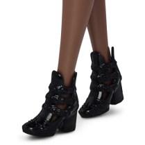 25 Blue Brocade - Petite shoes