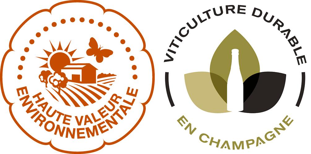 Logos HVE et VDC viticultura sustentável