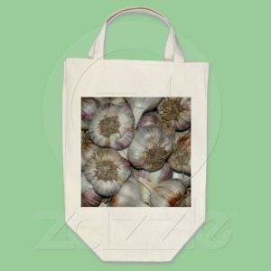 Barbolian garlic on grocery bag available thru Zazzle