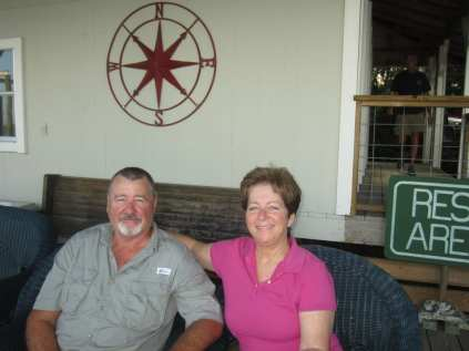 Manager Jim Eising and wife Karen