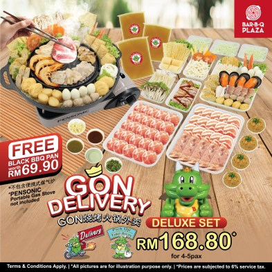 GonDelivery - Deluxe Set with Free Black BBQ Pan