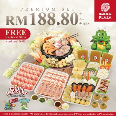 GonDelivery - Premium Set with Free BBQ Electrical Stove