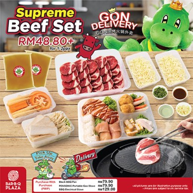 GonDelivery Supreme Beef Set (can add on stove/pan)