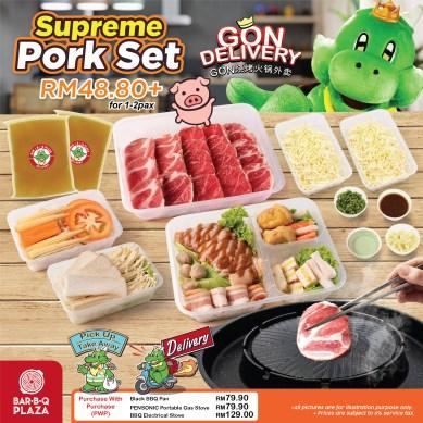 GonDelivery Supreme Pork Set (can add on stove/pan)