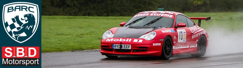 Red Porsche at Curborough