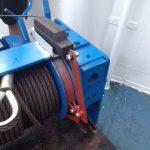 Barca draadlier met elektrisch bedienbare vang
