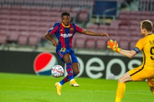 Fati scored for Barca in UCL