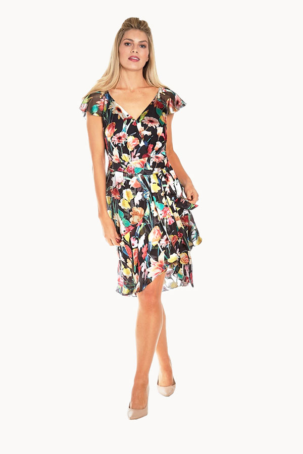 flutter sleeve burnout sundress front