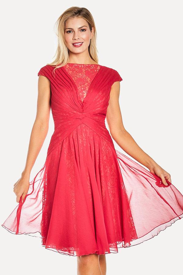 Fushia Chiffon Cocktail Dress