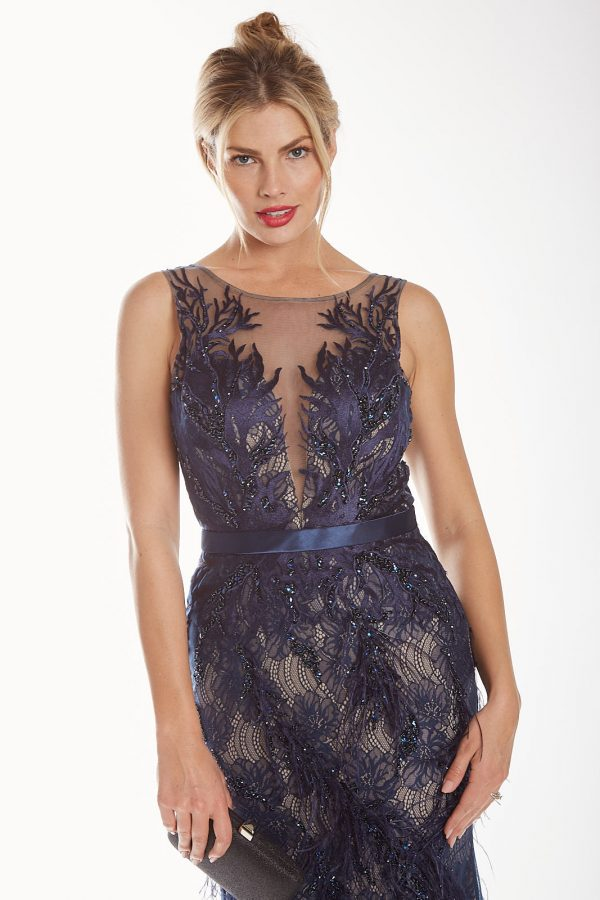 Hollywood Glamour Gown - Navy