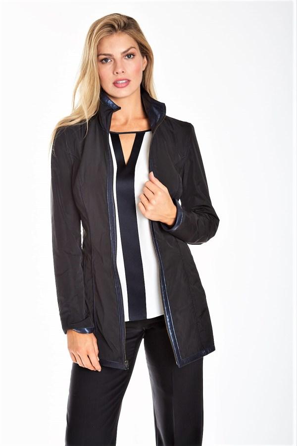Reversible Pearlized Leather Jacket
