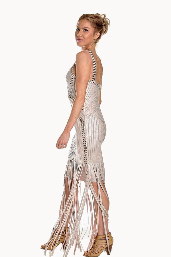Tassel Cocktail Bandage Dress