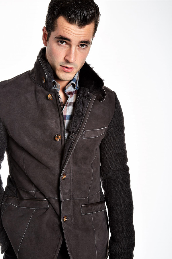 Gimos Italy Shearling Zip Cardigan Jacket