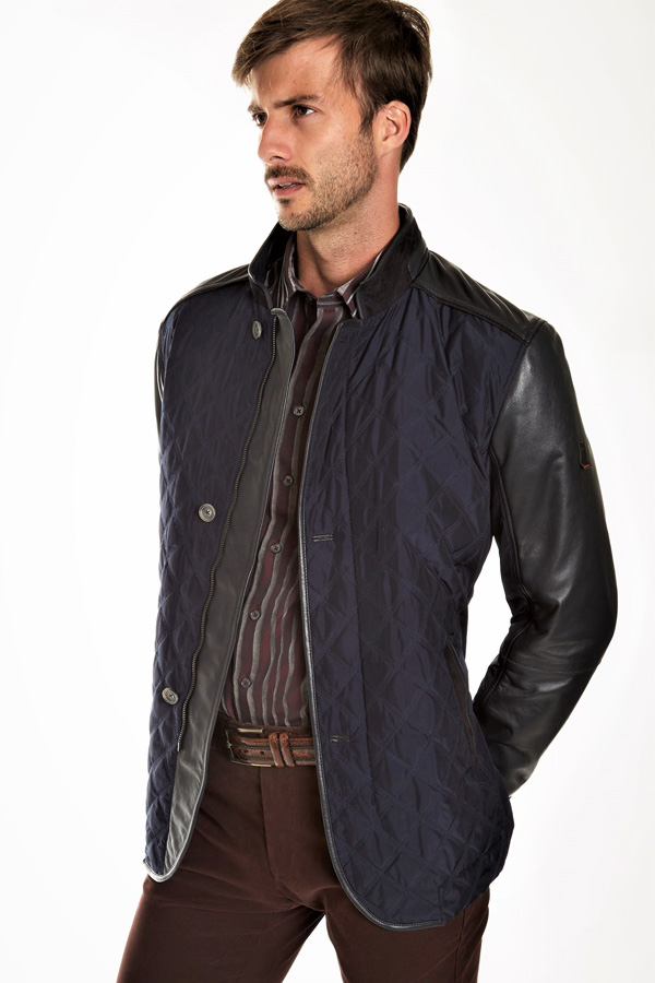 Torras Zip Leather Trim Quilted Outerwear