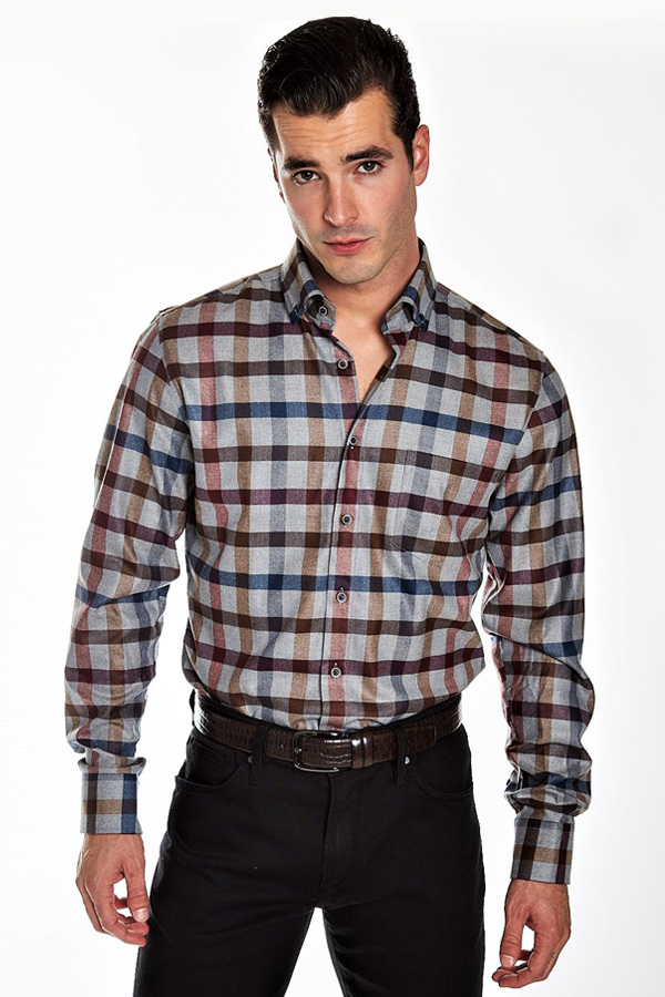 Haupt-Ceramica Plaid Sport Shirt