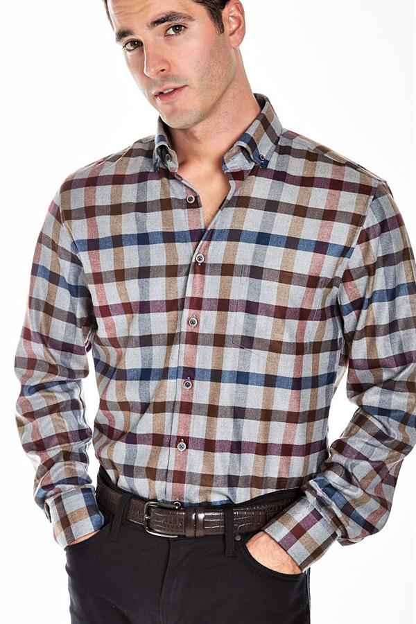 Haupt-Ceramica Plaid Sport Shirt