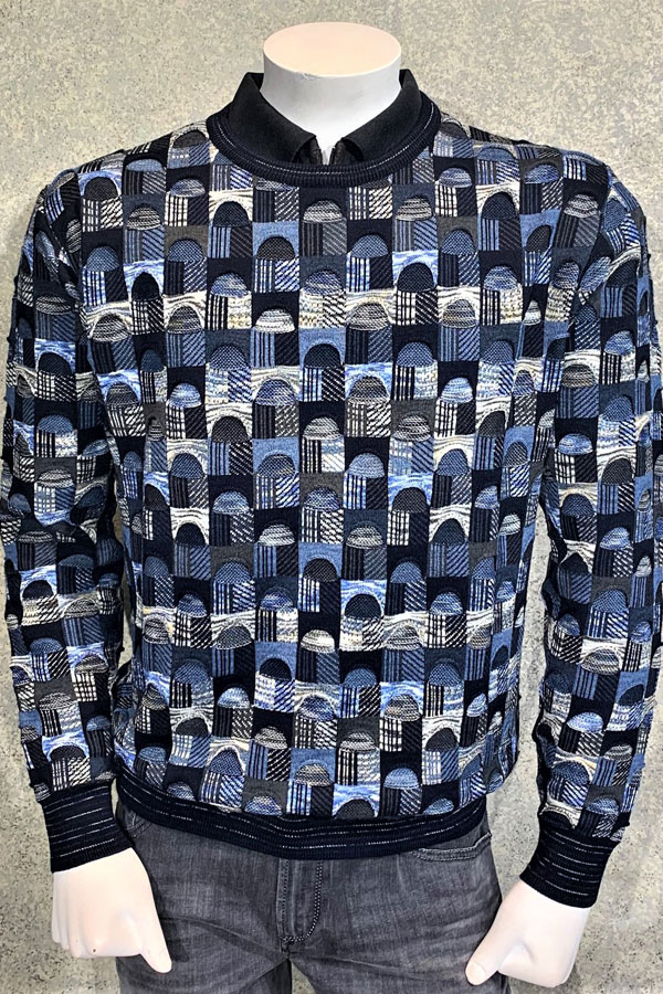 Italian Crew Neck Multi Dimentional Sweater