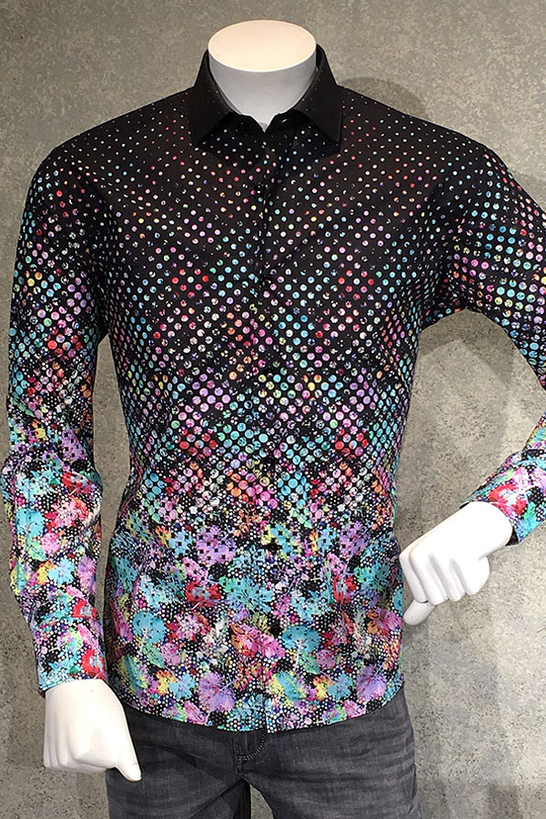 Neon Shirt Dot Print Fancy