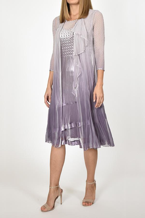 Plisse Ensemble 2pc Dress & Duster