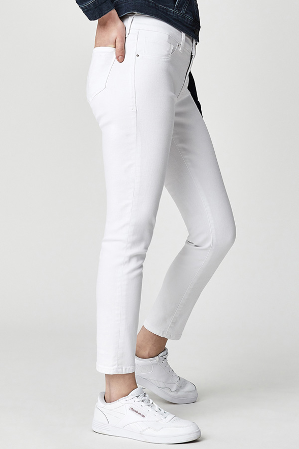Denim, White Wash Ankle length