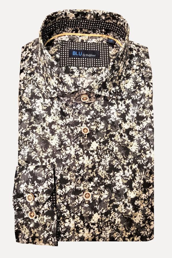 men's abstract pattern sports shirt