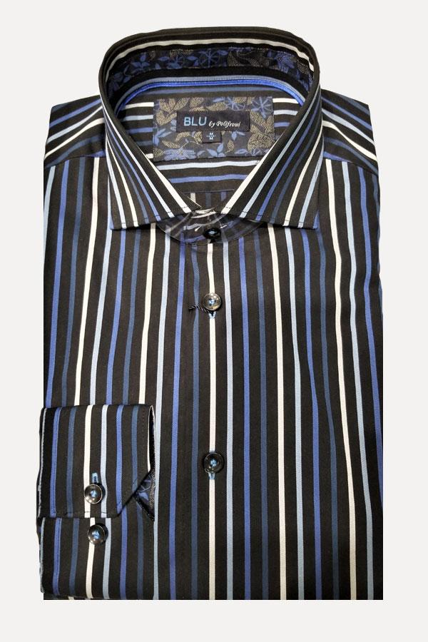 men's multi satin stripe sports shirt