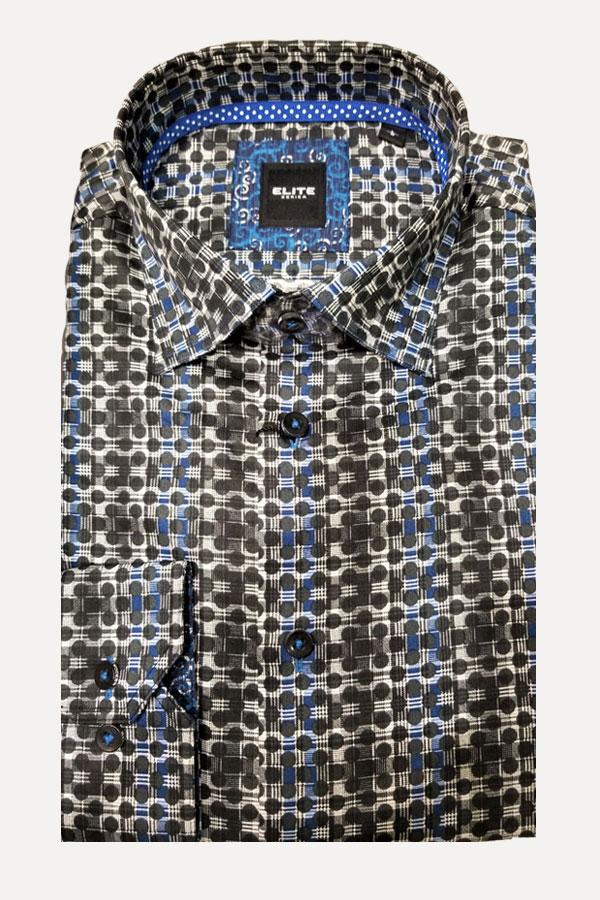 men's maxi polka dot shadow stripe sports shirt by Elite