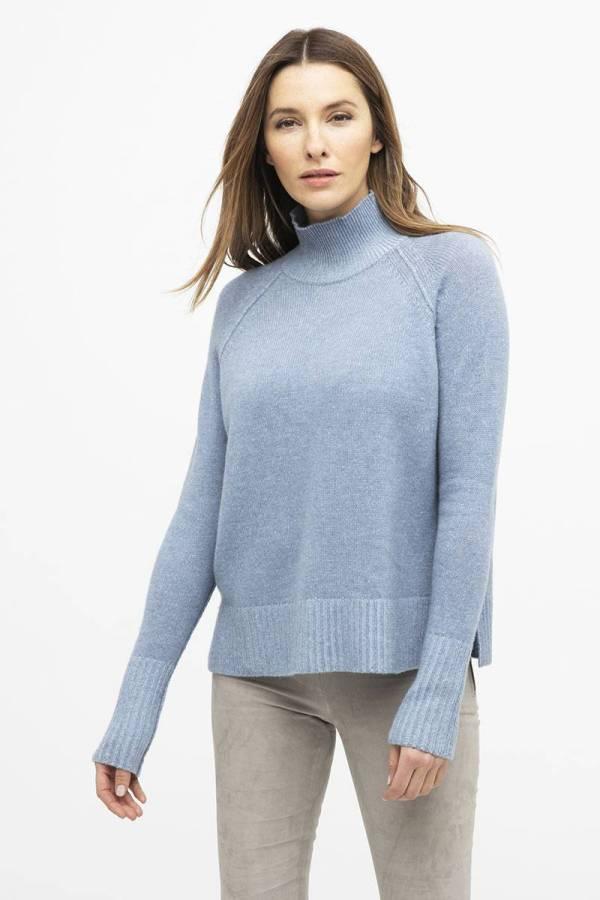 Kinross 100% Cashmere Mock Neck Sweater