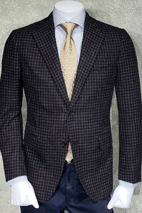 Italian Jacket, Cashmere/Wool Tweed Check
