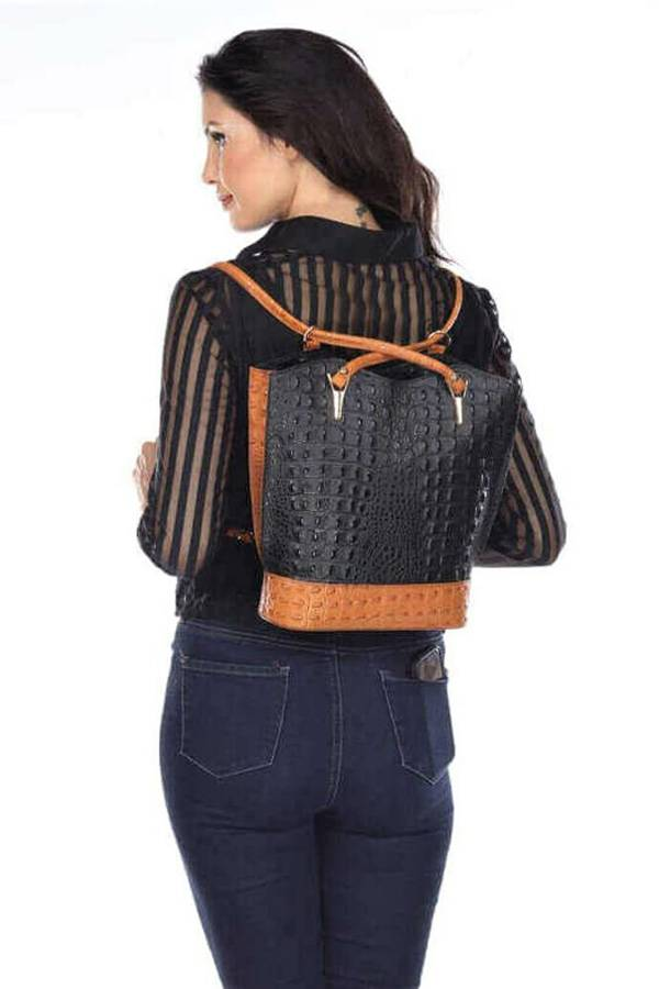 Convertible Backpack/Purse Italian Leather