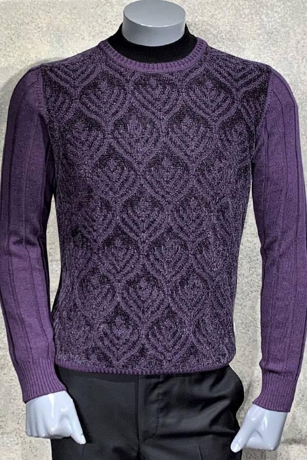 Chenille Crew Neck Eye Sweater