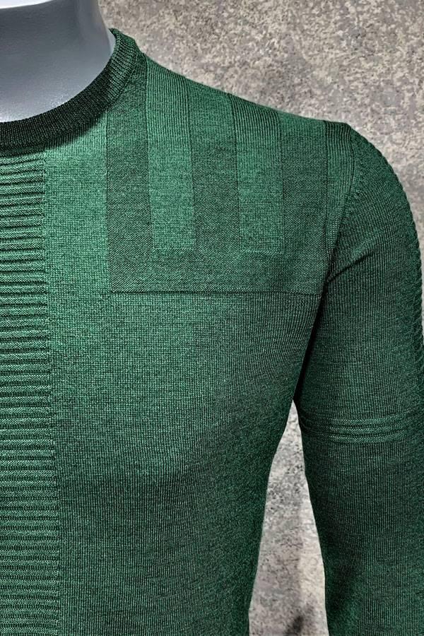 Merino Wool Geo Crew Sweater