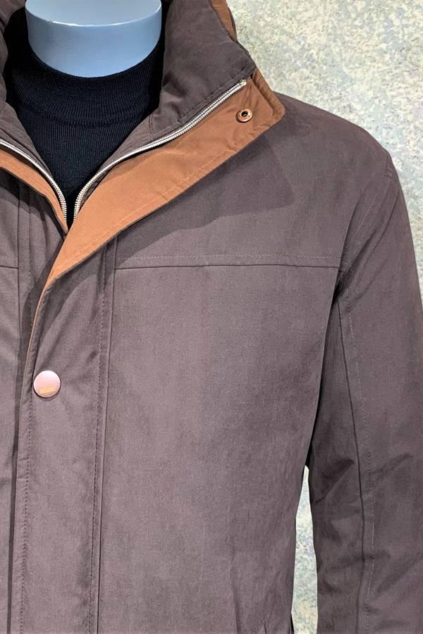 Hooded Microfiber Zip Outerwear