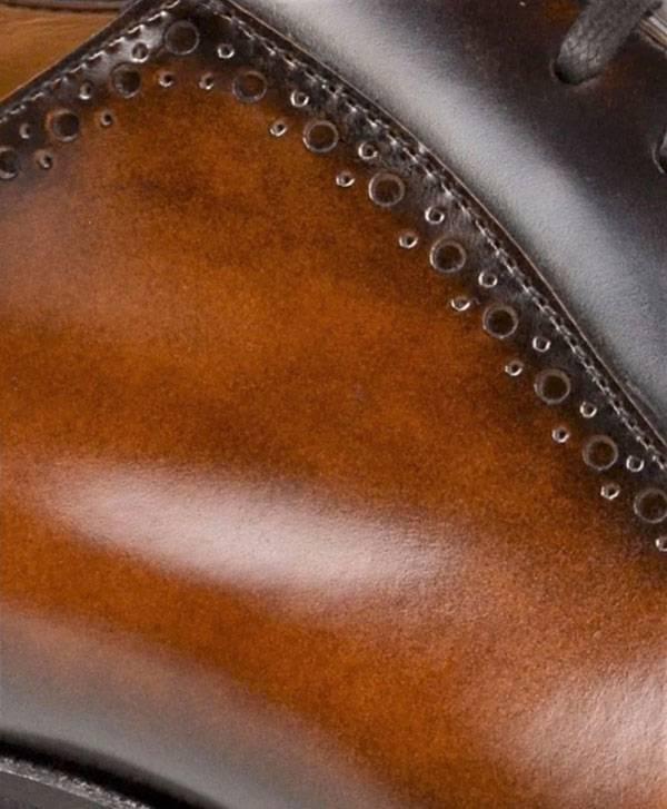 BRUNO MAGLI CAP TOE OXFORD LACE-UP in Cognac Two Tone
