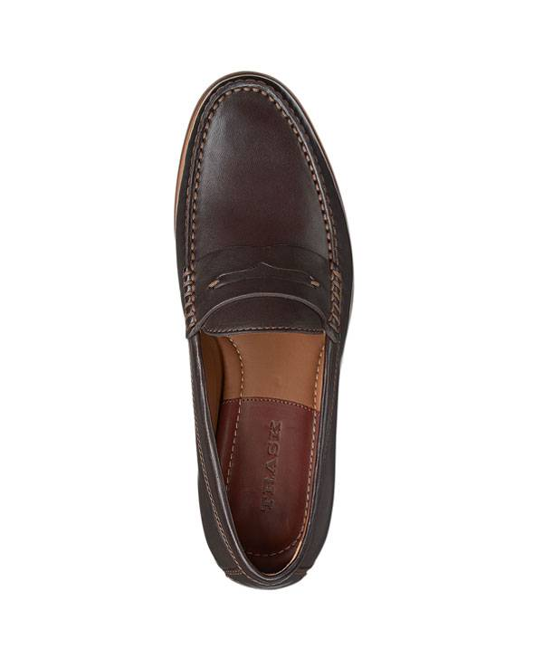 Penny Loafer, Sheep Skin in Chocolate Color.