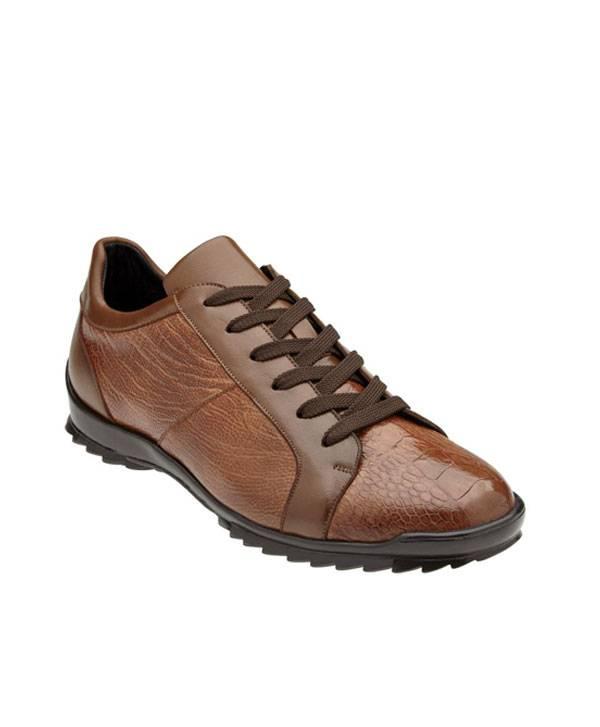 Modern Sport Shoe-GenuineOstrich and Italian Calf