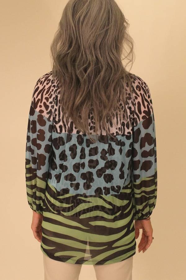 Mesh Animal Print Tunic