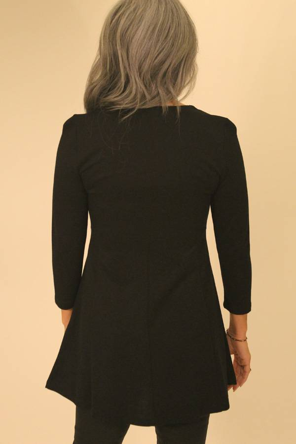 Jersey Tunic with Ring Neckline Detail