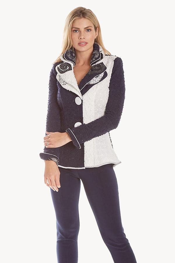 Boucle Two-toned Knit Jacket