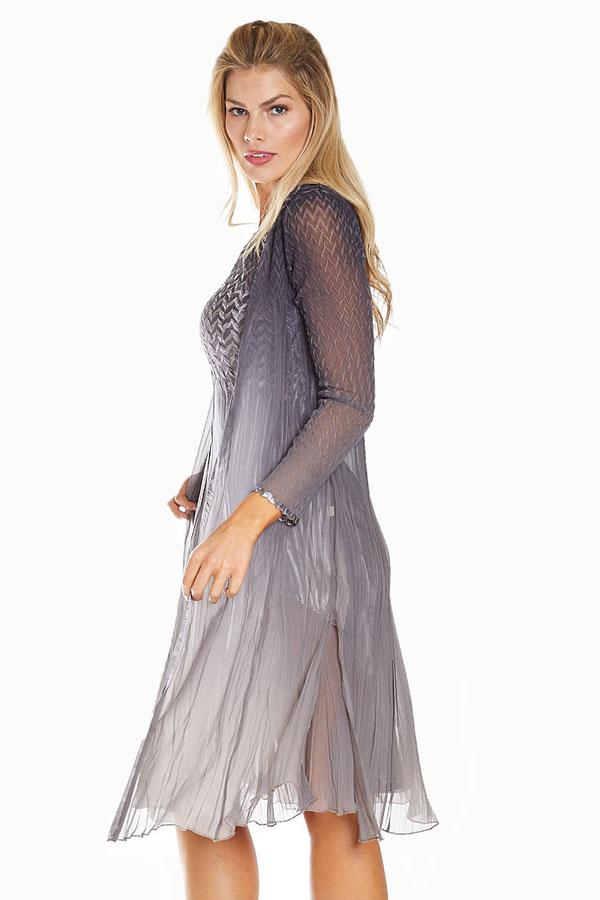 Plisse 2Pc Ensemble Dress & Duster
