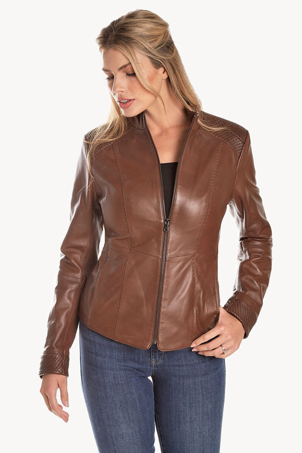 Punto Leather Zip Jacket