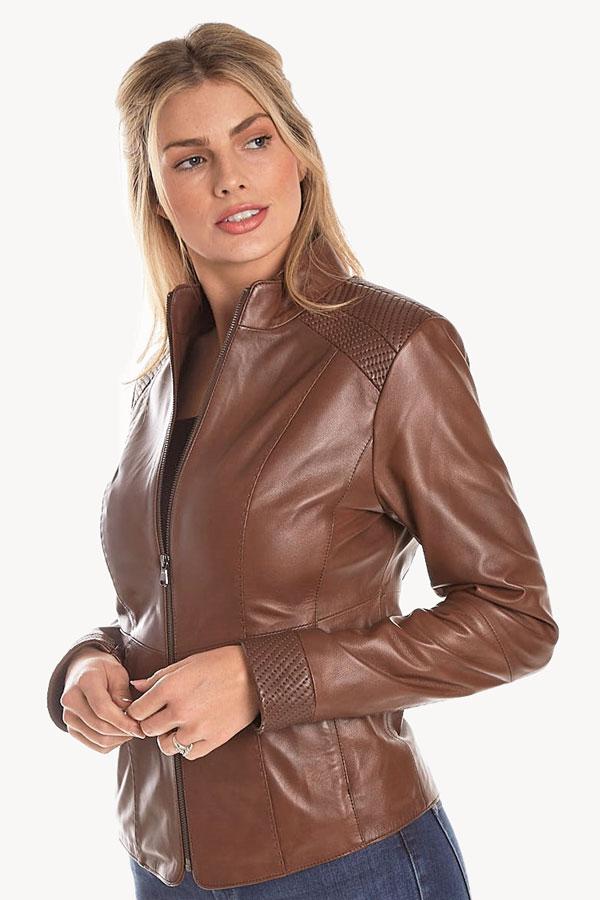 Punto Leather Zip Jacket