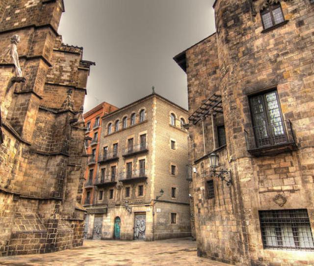 The Gothic Quarter In Ciutat Vella Barcelona
