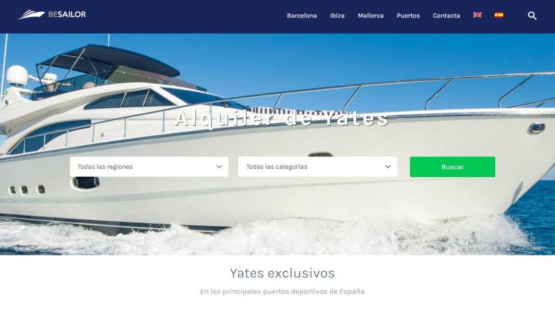 Besailor.net alquiler yates lujo