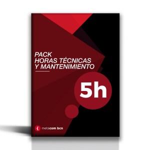 Pack de mantenimiento y horas técnicas de página web de 5 horas