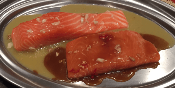 Barbecue Sweet and Spicy Salmon