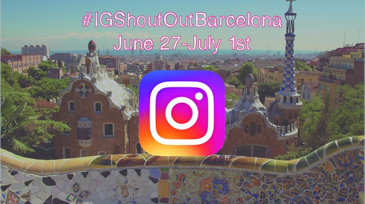 Instagram ShoutOut Barcelona Challenge (#IGShoutoutBarcelona) June 27 – July 1st