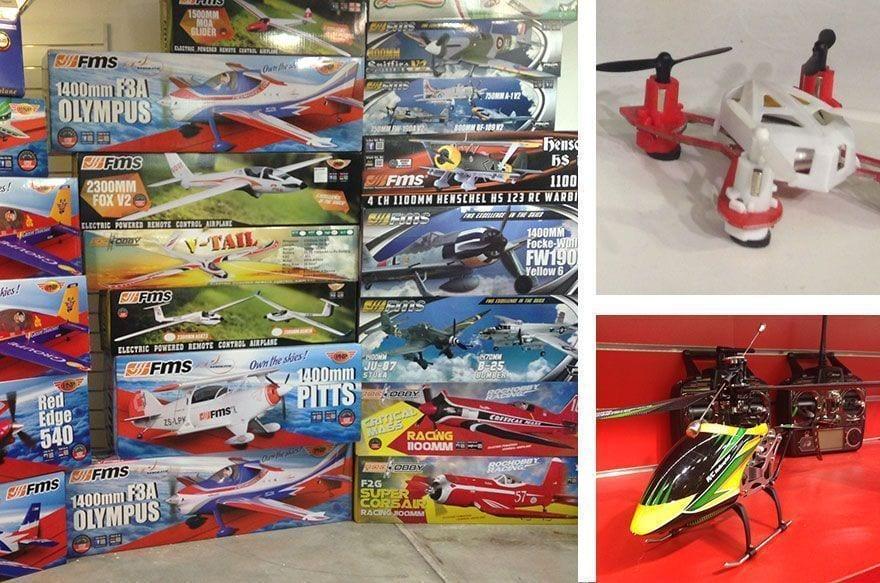 aeromodelismo, drones y coches teledirigidos en Barcelona
